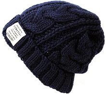 大きいサイズ帽子メンズロングウールBIGWATCHチャコールグレー