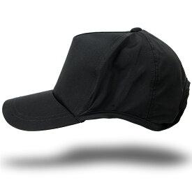 大きいサイズ メンズ 帽子 L XL ウォータープルーフ(撥水加工)ラウンドキャップ BIGWATCH ブラック キャップ ビッグワッチ ゴルフ スポーツ ランニング 帽子 WPR-01 春 夏 秋 UVケア