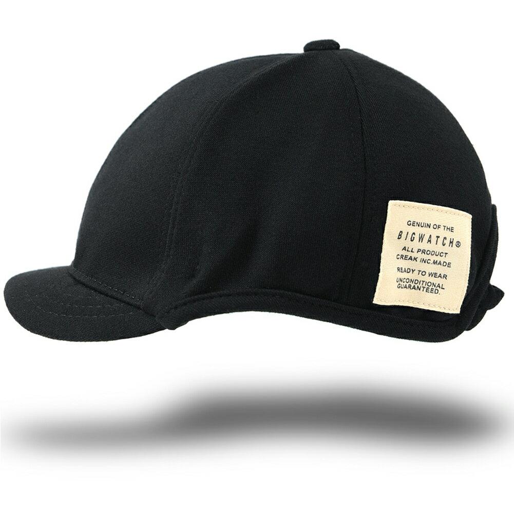 大きいサイズ メンズ 帽子 L XL ローキャップ ラウンドアンパイアキャップ BIGWATCH 黒 ブラック ビッグサイズ ビッグワッチ 無地 コットン キャップ シンプル C-03R 春 夏 秋 UVケア