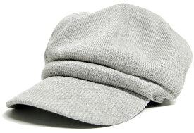 大きいサイズ メンズ 帽子 L XL サーマル ビッグキャスケットBIGWATCH MIXグレー ビッグサイズ ビッグワッチ つば付帽子 Lサイズ CAS-21 春 夏 秋 UVケア