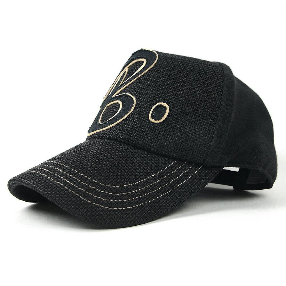 大きいサイズ メンズ 帽子 L XL ヘンプコットン ワッペンキャップBIGWATCH オールブラック ビッグサイズ ビッグワッチ Lサイズ CB-01 春 夏 秋 UVケア