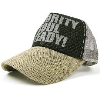 大尺寸 / 帽子 / 麻帽 BIGWATCH 黑色 / 灰色 / 灰色網格帽 / 大大表損失非-加工