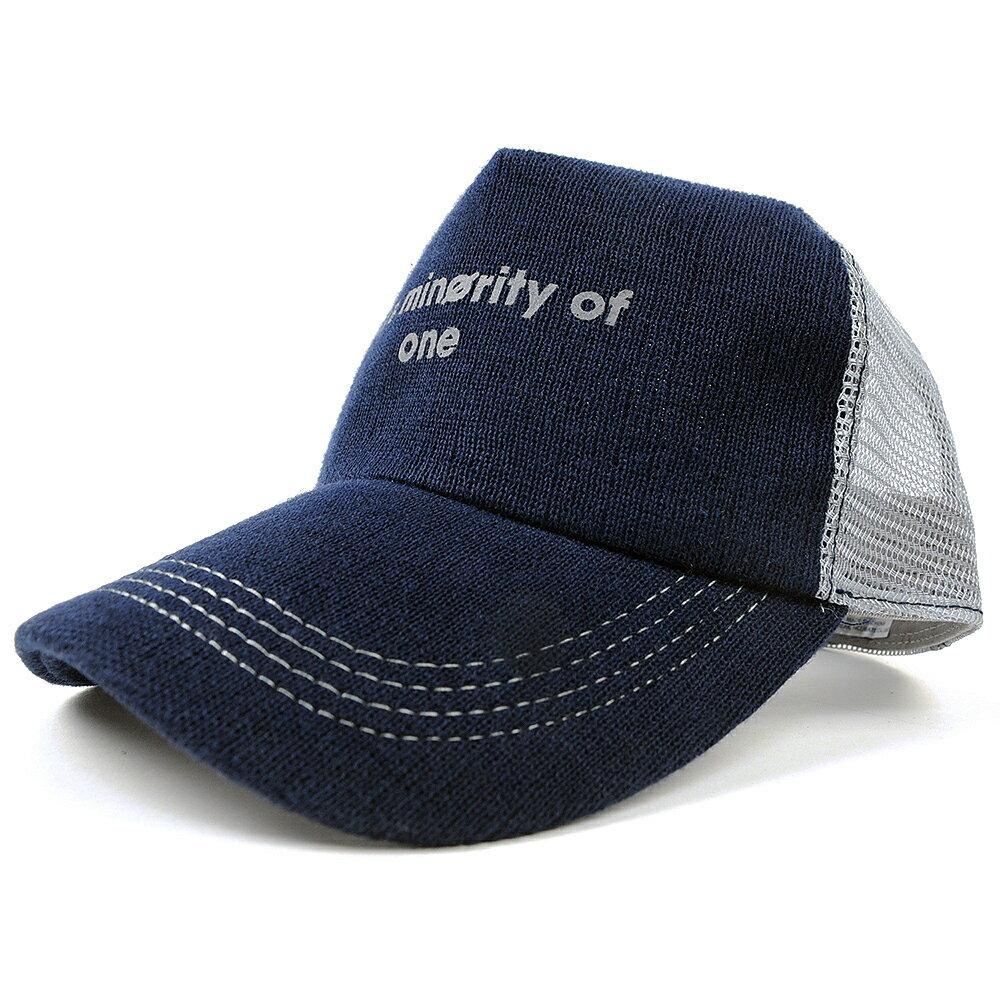 大きいサイズ L XL メンズ 帽子 ヘンプ ニット コットンキャップ BIGWATCH ネイビー(紺) グレー メッシュキャップ ビッグサイズ ビッグワッチ ダメージ加工無し CP-23