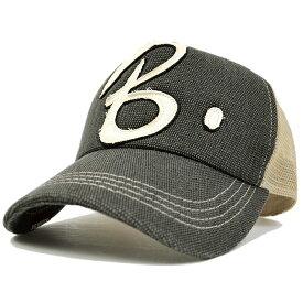 大きいサイズ 帽子 メンズ コットンメッシュキャップ BIGWATCH グレー ベージュ CPB-01M 春 夏 秋 UVケア