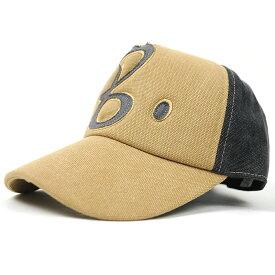 大きいサイズ メンズ 帽子 L XL コットンキャップワッペン BIGWATCHビックワッチ ベージュ グレーB キャップ 帽子 CPB-03 春 夏 秋 UVケア