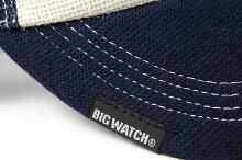 大きいサイズ帽子メンズガレージヘンプニットコットンCAPBIGWATCHホワイト/ネイビー