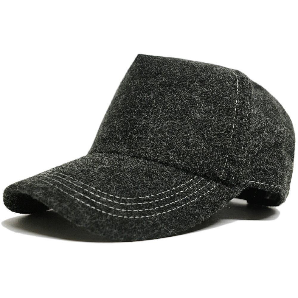 大きいサイズ 帽子 L XL フランネルキャップ BIGWATCH チャコールグレー キャップ ビッグワッチ CPMCT-11 秋冬