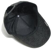 大きいサイズ帽子メンズフランネルCAPBIGWATCHチャコールグレー