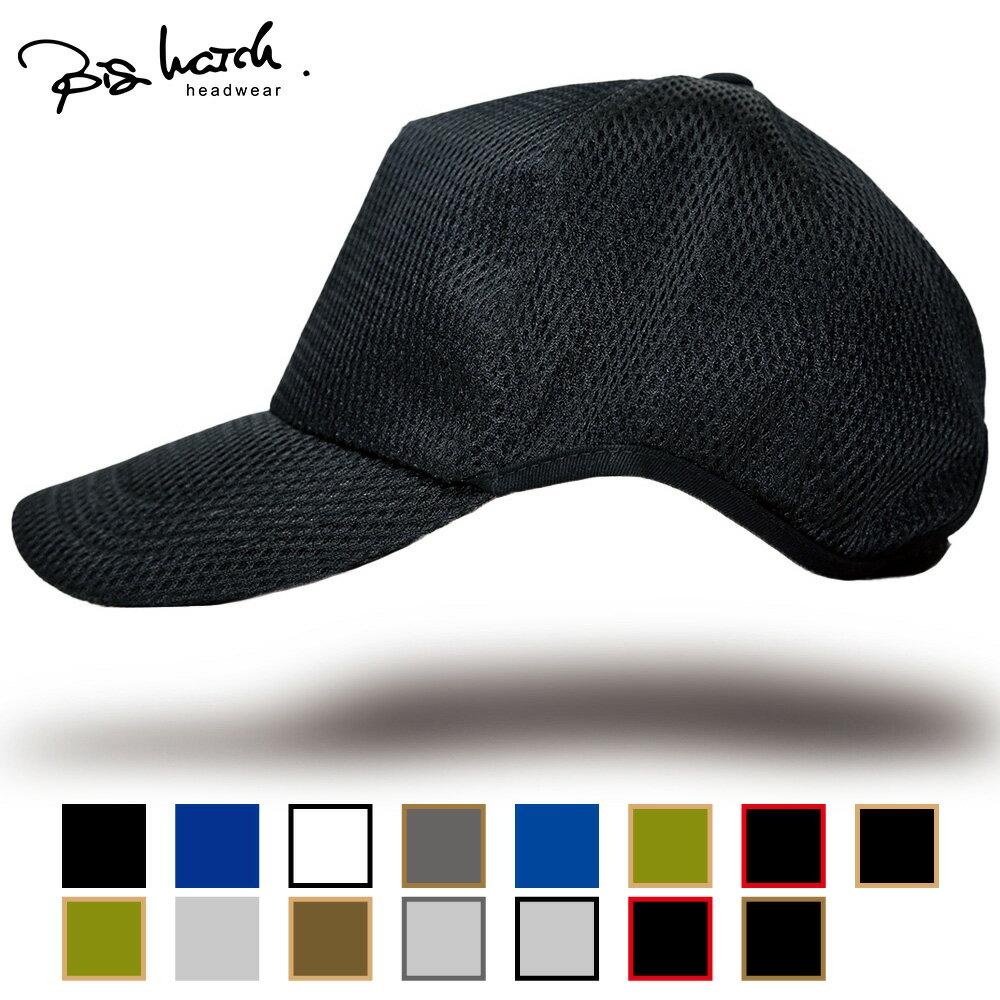 送料無料 帽子 メンズ 大きいサイズ L XL ゴルフ 無地ラウンド メッシュキャップ BIGWATCH 黒ブラック ビッグサイズ ビッグワッチ スポーツキャップ ウォーキング ランニング 楽天BOX受取対象商品 CPMG-01R