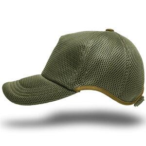 帽子 大きいサイズ L XL ゴルフ 無地ラウンド メッシュキャップ BIGWATCH カーキ ビッグサイズ ビッグワッチ スポーツキャップ ウォーキング ランニング CPMG-06R 春 夏 秋 UVケア