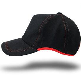 帽子 大きいサイズ L XL ラウンドスウェットキャップ BIGWATCH 黒ブラック レッドステッチ 赤 ビッグサイズ ビッグワッチ スポーツキャップ ウォーキング ランニング CPR-07 春 夏 秋 UVケア