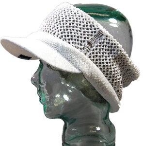 大きいサイズ メンズ 帽子 L XL ヘンプダメージ ツバ付きヘアバンドBIGWATCH ホワイト ベージュ ターバン クラッシュ加工 ビッグワッチ カチューシャ CTB-02 春 夏 秋 UVケア