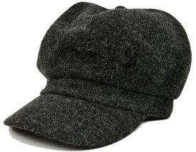 大きいサイズ メンズ 帽子 L XL フランネル ビッグキャスケットBIGWATCH チャコールグレー ビッグサイズ ビッグワッチ つば付帽子 Lサイズ 春 秋 冬
