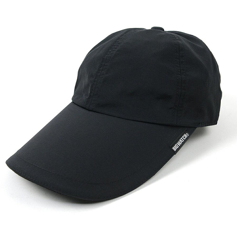 送料無料 大きいサイズ 帽子 L XL ウォータープルーフ(撥水加工)フィッシング キャップ BIGWATCH ブラック キャップ ビッグサイズ 釣り ダメージ加工無し FI-02 夏