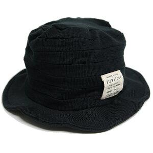 大きいサイズ メンズ 帽子 L XL ニット ハット BIGWATCH 黒 HA-09 春 夏 秋 UVケア バケットハット