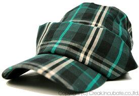 大きいサイズ メンズ 帽子 L XL チェックシェード BIGWATCH グリーン ニットキャップ ルーズ ワークキャップ ビッグワッチ 帽子 HH-02 春 夏 秋 UVケア
