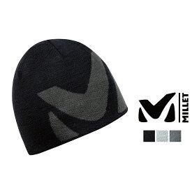 ミレー ロゴ ビーニー MIV7589 帽子 ニット帽 ニットキャップ メンズ ロゴ ウール フリース アウトドア トレッキング 防寒