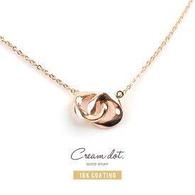 【ゆうパケット送料無料】ネックレス レディース 2連サークル ゴールド ショート シンプル 上品 モダン 大人可愛い アクセサリー ジュエリー プレゼント double-necklace【一部予約:10月下旬】