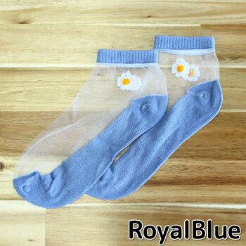 シースルーソックス(花)ソックス靴下レディースシースルーシアー脱げにくいフットカバーかわいいおしゃれ
