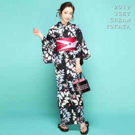 【500円OFFクーポン配布中】流れリーフ3点SET浴衣