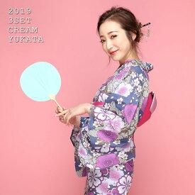 【500円OFFクーポン配布中】古典桜づくし3点SET浴衣