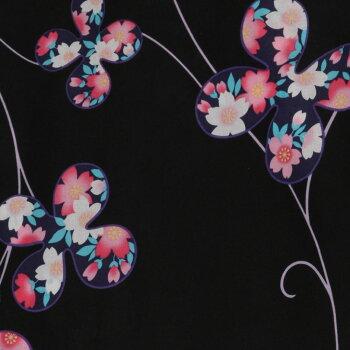 浴衣セットレトロ大人浴衣セット桜黒黒地浴衣+帯作り帯+下駄3点セットピンク紫薄紫青水色白黄牡丹ゆかたトールサイズ浴衣レトロ浴衣レディース古典柄モダンレトロモダンレディース花魁おいらん女性浴衣和服レディースファッション激安