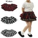 【送料無料】チェック スカート 3色 赤 黒 リボン 裏地付き フリフリ サイズ S M L 90 100 110 120 130 140 子供 こども 子供用 こども…