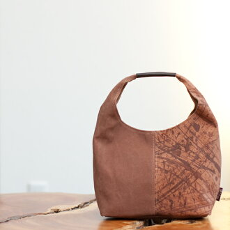 Persimmon Juice Dyeing Kyoto Canvas Bag Leather Roll Hand Stomach 3 150