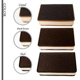 カラー3種:黒、ダークブラウン、キャメル
