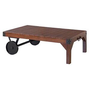トロリーテーブル ルオーターベンチ ガーデンベンチ 木テーブル 天然木 アイアン 車輪 車輪付き ガーデン 庭 屋内 屋外 お洒落 おしゃれ TTF-116 AZTTF-116