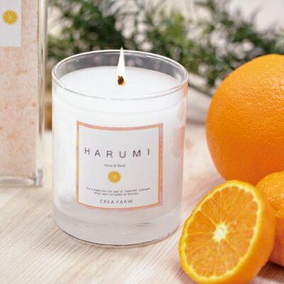 HARUMI(はるみ)アロマキャンドル180gキャンドルお香アロマみかんミカン蜜柑柑橘フルーツフルーティー果実果物ギフト誕生日お返しクレアファーム