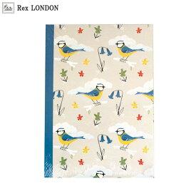 ノート(A5)/ブルーティット(BLUE TIT) Rex LONDON 青い小鳥のデザインがナチュラルで可愛いブルーティットシリーズのA5サイズのノート。別売りの色鉛筆とセットして、子ども会やプレゼント交換用に 【ラッピング無料】【メール便:定形外郵便】可能商品