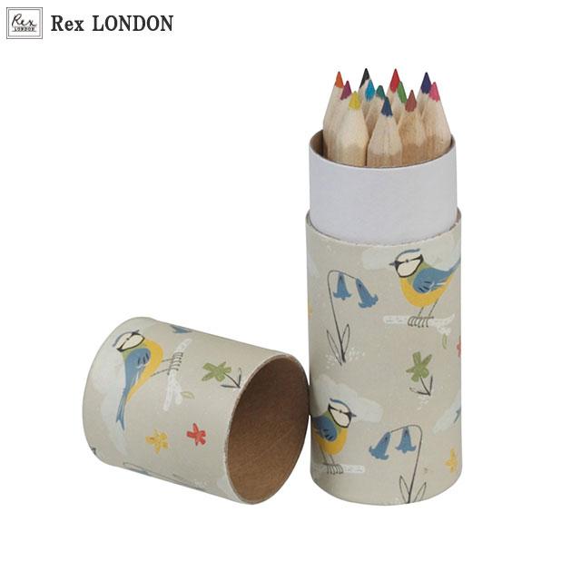 【ラッピング無料】色鉛筆/ブルーティット(BLUE TIT) 青い小鳥のデザインがナチュラルで可愛いブルーティットシリーズの12色の色鉛筆セット。収納ケース付きで持ち運びが便利。子ども会やプレゼント交換用のギフトに最適【ラッキーシール対応】
