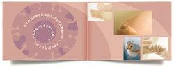 アルバムエコー写真『10ツキ10カものがたり』がんばったママとベビーに贈る誕生の物語エコー写真アルバムベビー出産祝いラッピング無料