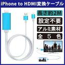 【送料無料 メール便発送】 iPhone/iPad用 一体型MHLケーブル HDMI変換アダプター アルミ 【iPhoneの映像をTV出力! 2…