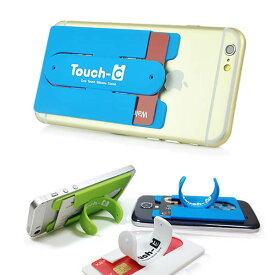 【送料無料 メール便発送】 iPhone 6/iPhone SE/iPhone5S/Galaxy/Nexus シリーズ 各社スマートフォン対応 Touch-C カード収納付け ワンタッチスタンド 【iPhone6 Plus 携帯スタンド スマホ スマートフォンスタンド おしゃれ】