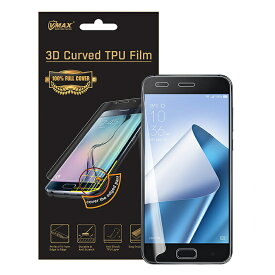 【送料無料 メール便発送】 ASUS ZenFone 4 ZE554KL 用液晶保護フィルム 全画面カバー TPU素材 (スクリーンプロテクター) VMAX 【 ZenFone4 ケース Screen protector アクセサリー】