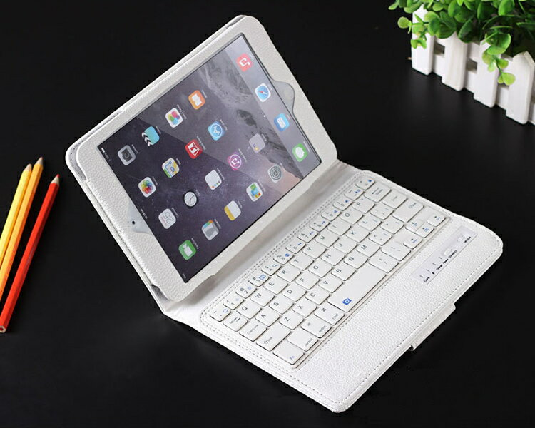【送料無料 レターパック発送】 iPad mini 2/3/4 ケース型キーボード 【iPad mini2 mini3 mini4兼用 Keyboard 無線式 Bluetooth3.0 ワイヤレスキーボード内臓ケース レザーケース iPad mini Case】