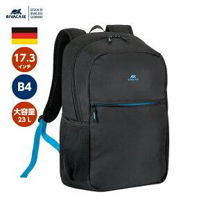 ドイツデザイン リュック 17.3インチ ノートパソコン ケース ノートPC バッグ トラベルバッグ 13.3 15.6 16 レディース 男女兼用 バックパック 出張 旅行 シンプル A4 B4 通勤 通学 ブランド RIVACASE