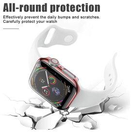 アップルウォッチ カバー 画面と本体の保護ケース アップルウォッチ保護カバー 5カラー 38mm 40mm 42mm 44mm Series1 Series2 Series3 Series4