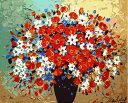 大人の塗り絵 絵画 油絵塗り絵 数字塗り絵 油絵風 花の物語 名画 【油絵】 アクリル絵の具 塗り絵 大人 油絵 油絵セッ…