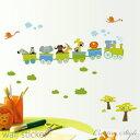 キャッシュレス 5%還元 ウォールステッカー 子供部屋 動物電車 誕生日 壁飾り 動物 インテリア 絵 diy 壁紙 可愛い …