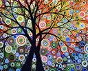 数字塗り絵 油絵風 生命の樹 名画 【油絵】アクリル絵の具 塗り絵 大人 油絵 楓景 油絵セット キャンバス 壁デコ 塗り…