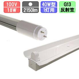 40W・1灯用反射笠型器具とLED蛍光灯 放熱耐性 40W形 2150lm 昼白色
