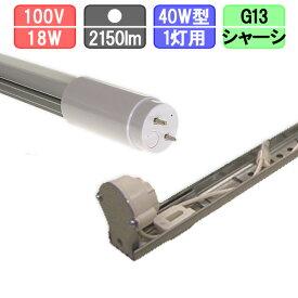 40W・1灯用シャーシ型器具とLED蛍光灯 放熱耐性 40W形 2150lm 昼白色