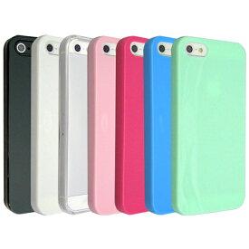 【画面保護シール付】iPhone5 iPhone5s iPhoneSE ケース カバー TPUケース 手に馴染む質感のソフトケース スマホケース iPhone5 iPhone5S