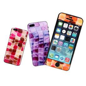 【7/26 1:59迄ポイント10倍】iPhone5 iPhone5s iPhoneSE 対応!ガラスや壁にくっつく不思議なスキンシール タイル調 ぷくぷくデザイン3Dステッカー エポキシ樹脂 スマホケース 非防水