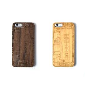iPhone6 6s 木製iPhoneケース 基盤デザインレーザー加工 木製ケースiPhone6専用ハードケース 天然木材 iPhoneケース スマホケース ナチュラル ウッド 自然 ケース カバー iPhoneケース