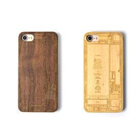 iPhone7 木製iPhoneケース 基盤デザインレーザー加工 木製ケースiPhone7専用ハードケース 天然木材 iPhoneケース スマホケース ナチュラル ウッド 自然 ケース カバー iPhoneケース