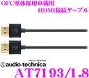 オーディオテクニカ AT7193/1.8 高画質・高音質OFC導体採用 車載用HDMIケーブル